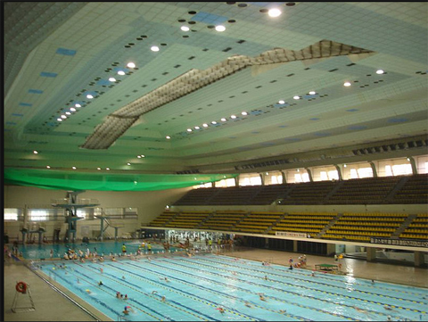the pool depth can be adjusted manually allowing it to be used for competition teaching or whatever the facility needs photo courtesy olympic pool