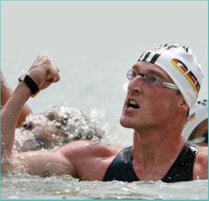 Thomas Lurz earned the 2006 Open Water Swimmer of the Year award.