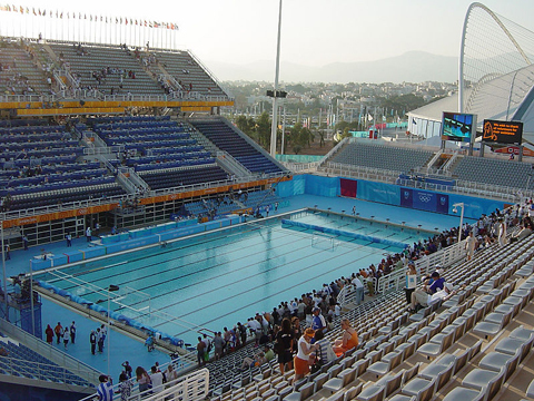 This Is A Photo Of The Pool Set Up During Water Polo Tournament Courtesy Wikipedia