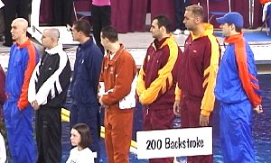 200 Back podium at NCAA Championships