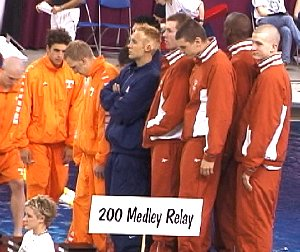 Texas takes the 200 Medley Relay