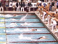 Dusing pulls out a lead for Texas in the 200 MR.
