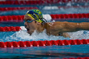 Kaio Almeida (BRA) wins 200 Fly at 2008 Toyota Grand prix at OSU.