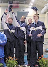 Auburn's Men's 200 Freestyle Relay Finals Team - 2003 SEC Championships