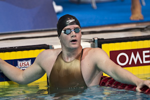 Tyler Clary places first in the prelims of the 200 backstroke at the 2009 USA Swimming Nationals/World Team Trials.