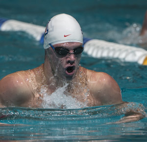 2012usopen Kevin Cordes places first in the prelims of the 200 breaststroke at the 2012 US Open.