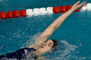 Teresa Crippen wins 200 backstroke at 2008 Toyota Grand prix at OSU.