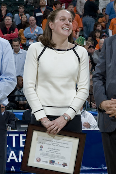 Molly Crispell receives 2008 Wayne Duke Postgraduate Award from the Big Ten Conference.