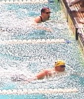 Tom Dolan and Tom Wilkins finish 1-2 in the 200 IM.