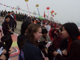 Erica Rose after Yangtze River Swim