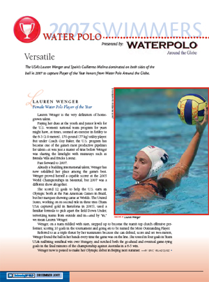 Female Water Polo Player of the Year Photo By: Swimming World Magazine