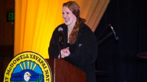 For Content Player Missy Franklin at Yavapai Nation