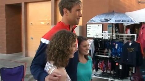 Matt Grevers and fans