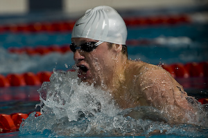 Brendan Hansen wins 100 Breaststroke at 2008 Toyota Grand Prix at Ohio State University.