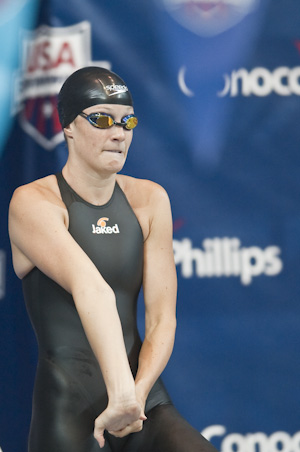Keri Hehn places first in the prelims of the 200 breaststroke at the 2009 USA Swimming Nationals/World Team Trials.