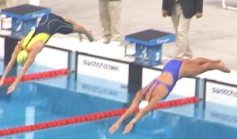 Kristy Kowel of USA starts the 200 Breast.