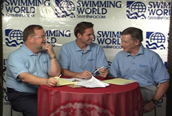 In the Swimming World TV Studio