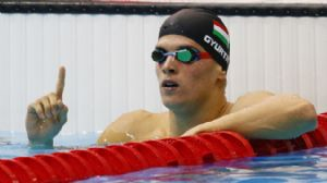 Daniel Gyurta at the 2012 Olympics