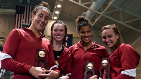 Stanford's 400 freestyle relay at the 2012 NCAAs