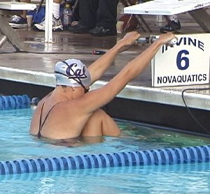 Photo by Michael Collins</p> <p>Natalie Coughlin prepares for the start.
