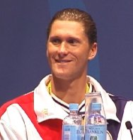 Lenny K. at the USA Swimming Olympic Press Conference.