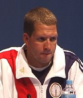 Tom Malchow at the USA Swimming Olympic Press Conference.
