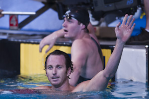 Aaron Peirsol set a new world record in the 200 backstroke at the 2009 USA Swimming Nationals/World Team Trials.