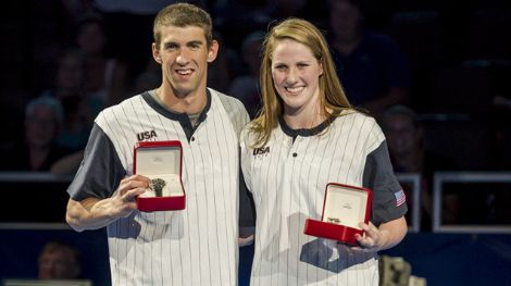 Michael Phelps and Missy Franklin