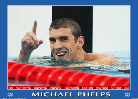 "Michael Phelps ""Victory"" poster"