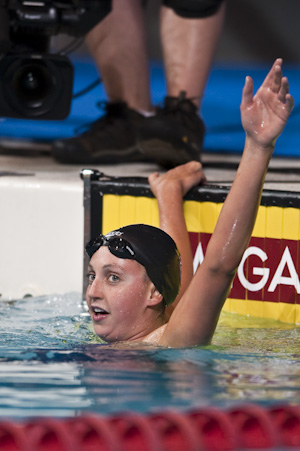Rebecca Soni won the 200 breaststroke at the 2009 USA Swimming Nationals/World Team Trials.