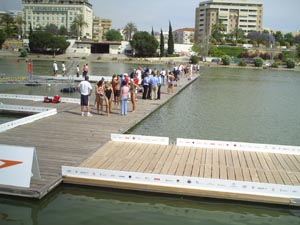 Starting dock in Seville.