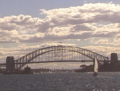 Sydney Bridge from the harbour.