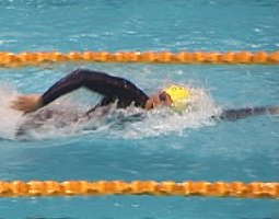 Ian Thorpe Flying through the water.