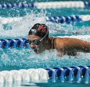 Jasmine Tosky places first in the prelims of the 200 butterfly at the 2012 US Open.