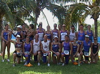 Team USA after the 2002 ITU World Aquathon Championships