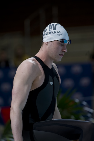 Peter Vanderkaay wins the 200 Free at 2008 Toyota Grand Prix at Ohio State University.