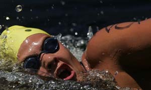 Velia Janse van Rensburg at the 2008 South African Open Water Championships