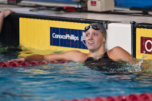 Dana Vollmer won the 100 freestyle at the 2009 USA Swimming Nationals/World Team Trials.