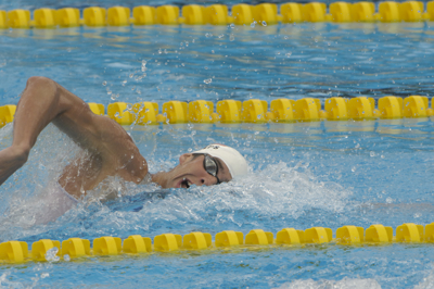 Phelps wins 200 Free at 2005 World Championships.