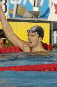 Aaron Peirsol set new WR in 200 back at 2005 worlds.