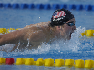 Ian Crocker sets wr in 100 fly at 2005 worlds.