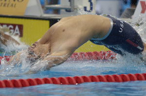 Aaron Peirosl starts Mens 4x100 MR at 2005 worlds.