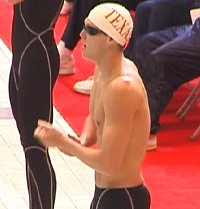 Neil Walker just before qualifying first in the 100 Free.