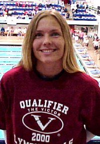 Wenke Hanson, 30, started her meet with a 1:03.69 100 Breast - the fastest female time.