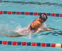Wenke Hanson dominated the Breaststroke events.