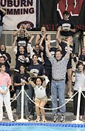 Auburn coaches and teams react to Becky Short's 21.88 50 yard free