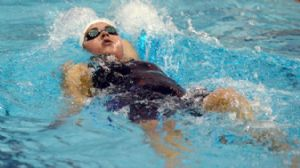 Bonnie Brandon competes in the women's 400 yard individual medley prelims during the U.S. Winter National Championships at the Texas Swimming Center.