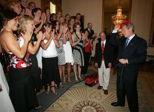 Georgia women with President Bush