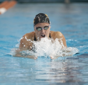 Katinka Hosszu of USC competes in the women's 200 yard individual medley during the Texas Invitational at the Texas Swimming Center.
