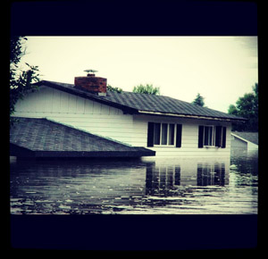 knutson house under water